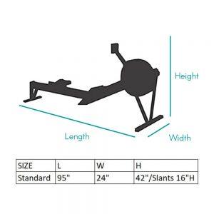 Rowing Machine Sizing Chart