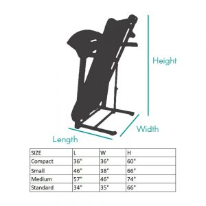 Folding Treadmill cover dimensions