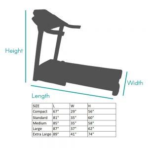 NonFolding Treadmill Sizing Chart